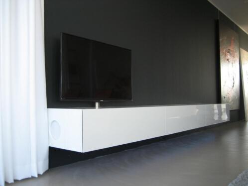 Hangend Tv Meubel In Hoogglans Lak Super Lange Kast Artyx