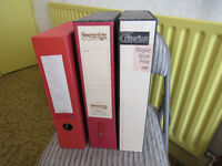 3 box files, one complete with A-Z index, used but in excellent condition