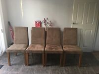 Brown Dining Chairs - Set of 4