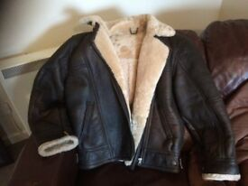 Lakeland leather vintage sheepskin flying jacket