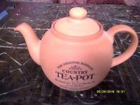 Vintage Teapot pottery earthenware