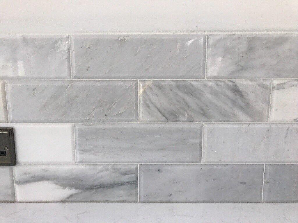 Marble Tiles Topps Misty Fjord Bevelled Rectangular