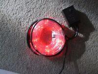 RED FLASHING ROPE LIGHTS 4 METRES BRAND NEW