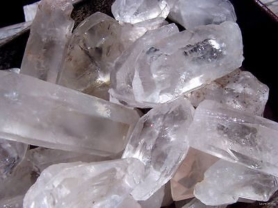UNSEARCHED NATURAL QUARTZ CRYSTAL POINTS - 1000 CARATS - Metaphysical Healing