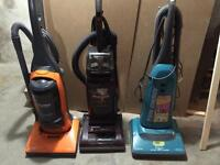 3 upright vacuums