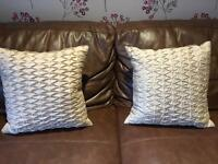 Set of 2 Laura Ashley home pillows beige cream