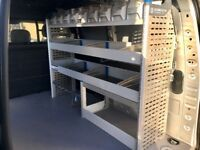 Van Racking / Shelving - SORTIMO - Very Good Condition - 9 Small Storage Boxes - Bolts & Brackets