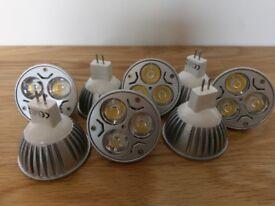 8 x 4W MR16 GU5.3 LED Light bulbs - 40w equivalent - as new