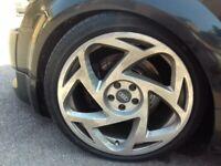 """Radi8 18"""" alloy wheels. Will fit golf mk4, audi a3, polo, audi tt"""