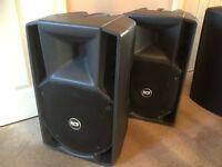 Pair of RCF 412A Active Loudspeakers (Excellent condition, incl. covers) # pro speakers DJ band