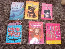 6 girls books: The tail of Emily Windsnap, Magic puppy, Magic kitten, Lola Rose, Frankie Foster - F