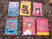 6 girls books: The tail of Emily Windsnap, Magic puppy, Magic kitten, Lola Rose, Frankie Foster - F