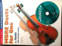 More Duets for One Music for violin Book with CD