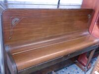 SMALL PIANO HOLLMAN OVER STRUNG 7 OCTAVE 1960S RETRO DECO STYLE £200 can deliver