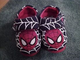 Spiderman Slippers, Toddler / Child Size 6, very good condition