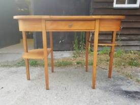 Solid Teak Kidney Shaped Dressing Table