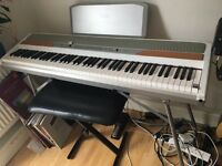 White Korg SP 250 Digital Piano - Excellent condition