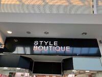 Style Boutique Illumination Shop Sign