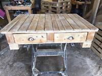 SOLD !!!! Reclaimed wood coffee table ex display. Bargain.