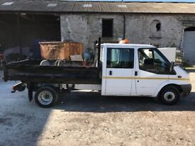 Ford transit crew cab tipper. Only 42000 miles