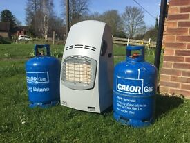 AVAILABLE NOW: Calor GAS Heater 4.3kW with 2 x 15kg FULL Butane Cylinders: Excellent Condition