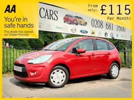 CITROEN C3 1.4 E-HDI EGS AIRDREAM VTR PLUS 5d AUTO 68 BHP Apply for finance Online today! (red) 2012