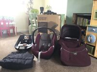 Mamas & Papas Armadillo Flip XT Travel System and accessories (Mulberry)