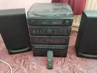 Radio cassette CD and record player
