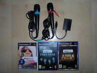 PLAYSTATION 2 SINGSTAR GAMES ABBA TAKE THAT 80's & MICROPHONES
