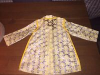Yellow/ See-through daisy Raincoat - Mother Care 9-12 months