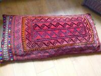 Genuine Handmade Persian Wool Rug Floor Cushion Excellent Condition