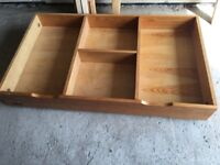 Mamas and papas under bed/cot storage drawer
