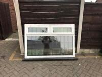 Upvc leaded double glazed window