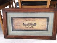 Wooden 'Chablis' Framed Photo Frame - Wine 'Chateau les Jaques'