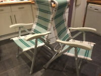 Camping or Caravaning Reclining Chair Set of 4