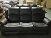 3 and 2 seater leather recliner sofa 98