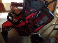 Hauck freerider tandem stroller double buggy