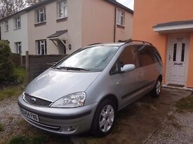 FORD GALAXY GHIA,1.9 L,2004,7 SEATS,DIESEL ,AUTIMATIC,MOT 7/17,GREAT FAMILY CAR,DRIVES VERY WELL
