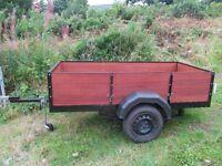 trailer 8x4 diy building materials gardening hobby firewood