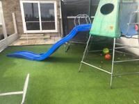 T P Climbing frame and slide