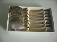 6 Soup Spoons Boxed