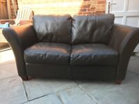 Solid Good Quality Leather Sofa Settee