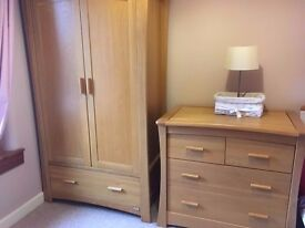 Solid Oak Wardrobe - £250