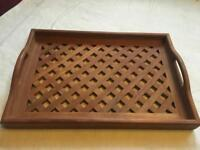 Ecco kircod wood large vintage tray it's very old £8