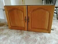 Oak kitchen wall unit