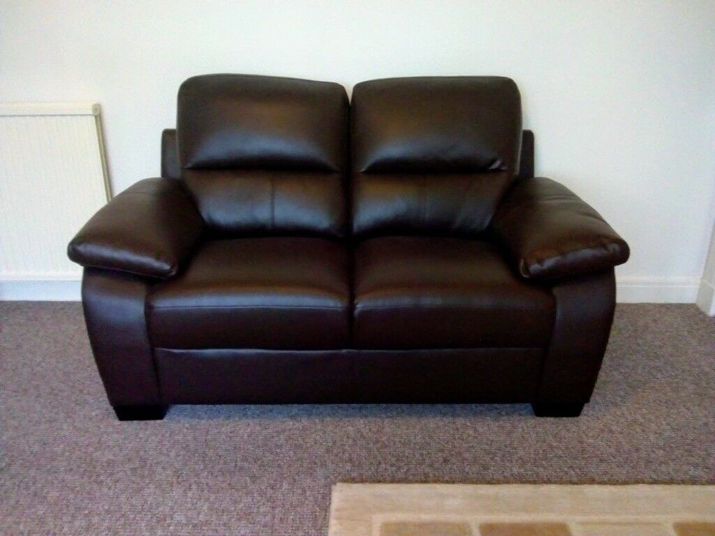 Leather Sofa 2 And 3 Seater Chocolate Brown