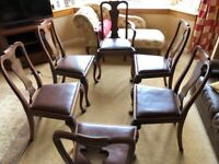Set of Six Wylie & Lochhead Antique Dining Room Chairs