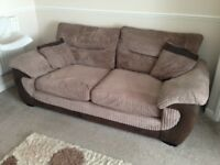 DFS Brown 3 seater sofa + matching 2 seater sofa and tub armchair