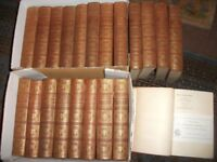 SET OF 21 ANTIQUE EARLY 20th CENTURY RARE CHARLES DICKENS H/BACK BOOKS