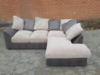 Superb BRAND NEW brown and cream cord corner sofa. Brand New. can deliver